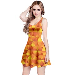 Background Triangle Circle Abstract Reversible Sleeveless Dress