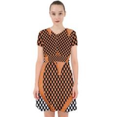 Heart Chess Board Checkerboard Adorable In Chiffon Dress by Bajindul