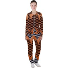 Heart Chess Board Checkerboard Casual Jacket And Pants Set by Bajindul