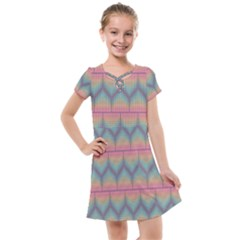 Pattern Background Texture Colorful Kids  Cross Web Dress by Bajindul