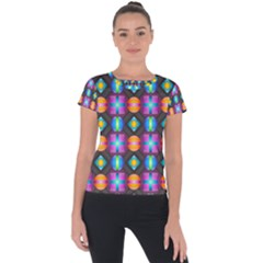 Squares Spheres Backgrounds Texture Short Sleeve Sports Top  by Bajindul