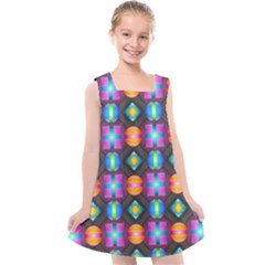 Squares Spheres Backgrounds Texture Kids  Cross Back Dress by Bajindul
