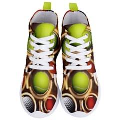 Sport Ball Tennis Golf Football Women s Lightweight High Top Sneakers
