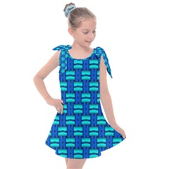 Pattern Graphic Background Image Blue Kids  Tie Up Tunic Dress by Bajindul