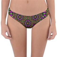 Paradise Flower In The Jungle Reversible Hipster Bikini Bottoms