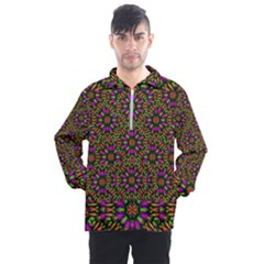 Paradise Flower In The Jungle Men s Half Zip Pullover by pepitasart