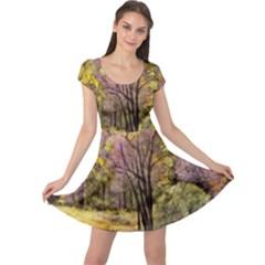 Outdoor Nature Natural Woods Cap Sleeve Dress