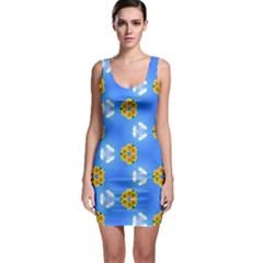 Pattern Sequence Motif Design Plan Flowers Bodycon Dress