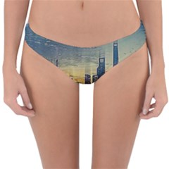 City Metro Pole Buildings Reversible Hipster Bikini Bottoms by Pakrebo