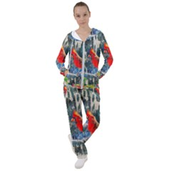 Texture Art Decoration Abstract Bird Nature Women s Tracksuit by Pakrebo