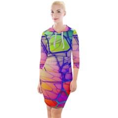 Isolated Transparent Sphere Quarter Sleeve Hood Bodycon Dress