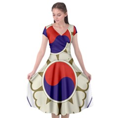 Emblem Of South Korea, 1963 1997 Cap Sleeve Wrap Front Dress by abbeyz71