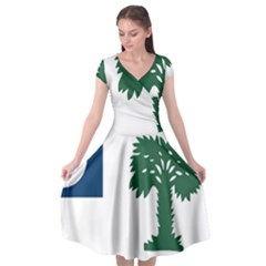 First Proposed South Carolina Flag Cap Sleeve Wrap Front Dress by abbeyz71