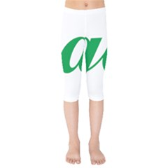 Logo Of Ashgabat Kids  Capri Leggings  by abbeyz71