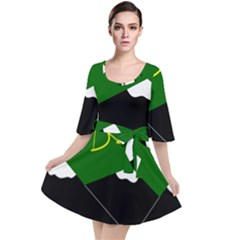 Flag Of Hunza  Velour Kimono Dress by abbeyz71