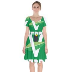 Logo Of Ecologist Green Party Of Mexico Short Sleeve Bardot Dress by abbeyz71