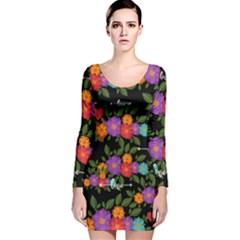 Love Long Sleeve Velvet Bodycon Dress by BIBILOVER