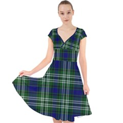 Tweedside District Tartan Cap Sleeve Front Wrap Midi Dress by impacteesstreetwearfour