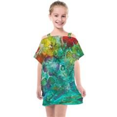 Underwater Summer Kids  One Piece Chiffon Dress by arwwearableart
