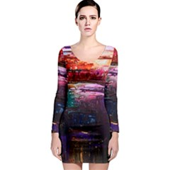 Spring Ring Long Sleeve Bodycon Dress by arwwearableart