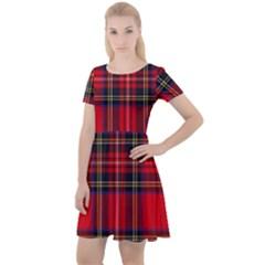 Royal Stewart Tartan Cap Sleeve Velour Dress  by impacteesstreetwearfour