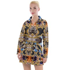 Luxury Abstract Design Women s Long Sleeve Casual Dress by tarastyle