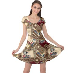 Luxury Abstract Design Cap Sleeve Dress by tarastyle