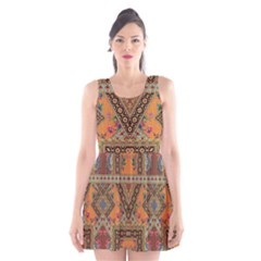 Luxury Abstract Design Scoop Neck Skater Dress by tarastyle
