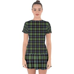 Abercrombie Tartan Drop Hem Mini Chiffon Dress