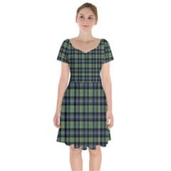 Abercrombie Tartan Short Sleeve Bardot Dress by impacteesstreetwearfour