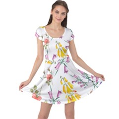 Wild Flower Cap Sleeve Dress by charliecreates