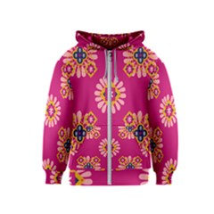 Morroco Tile Traditional Marrakech Kids  Zipper Hoodie