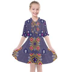 Morocco Tile Traditional Marrakech Kids  All Frills Chiffon Dress by Pakrebo