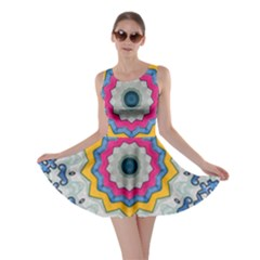 Kaleidoscope Bright Flower Mandala Skater Dress