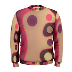Background Wavy Pinks Bright Men s Sweatshirt