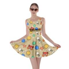 Crabs Pattern Skater Dress by Valentinaart