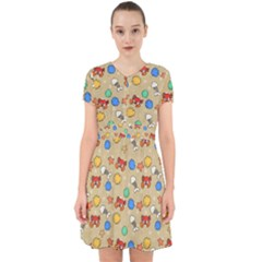 Crabs Pattern Adorable In Chiffon Dress by Valentinaart