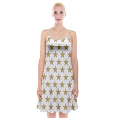 Gold Star Spaghetti Strap Velvet Dress by WensdaiAddamns