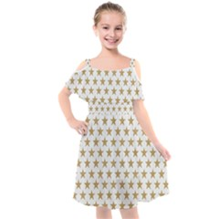 Gold Star Kids  Cut Out Shoulders Chiffon Dress by WensdaiAmbrose