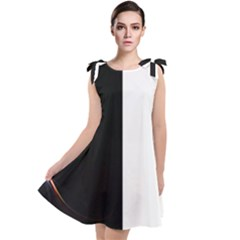 Wow Black White Ray Tie Up Tunic Dress by wowclothings