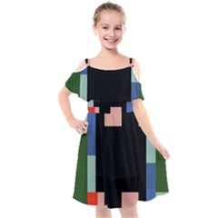 33sahara428 Kids  Cut Out Shoulders Chiffon Dress by saharastr33t