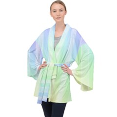 Lace On A Rainbow Velvet Kimono Robe by TimelessFashion