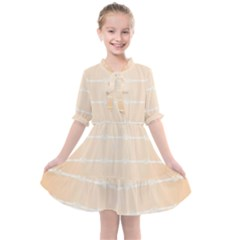 Pastel In Orange Kids  All Frills Chiffon Dress by TimelessFashion
