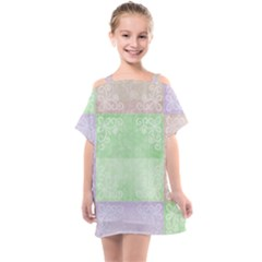 Pastel Quilt Kids  One Piece Chiffon Dress by TimelessFashion