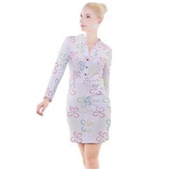 Sweet Flowers Button Long Sleeve Dress by TimelessFashion