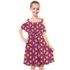Flower Power Kids  Cut Out Shoulders Chiffon Dress by TimelessFashion