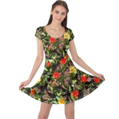 Tulips In April Cap Sleeve Dress by Riverwoman