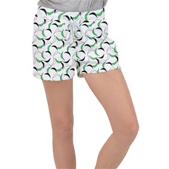 Simply Retro Green Women s Velour Lounge Shorts by TimelessFashion