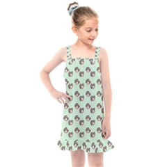 Kawaii Dougnut Green Pattern Kids  Overall Dress by snowwhitegirl