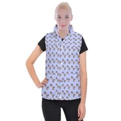 Kawaii Dougnut Blue Pattern Women s Button Up Vest by snowwhitegirl